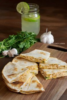 Honey Lime Chicken Quesadillas - these look AMAZING!