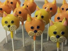 Meow!  kitty cake pops!