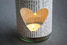 DIY Glass Jar Tea Light Holder