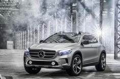 Get enough ground clearance and you'll think you're Air Jordan.  [Mercedes-Benz Concept GLA]