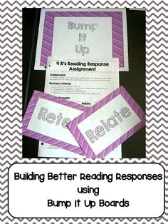 I use the 4R's reading strategy and bump it up boards to help my students build better reading responses. ($4.00)