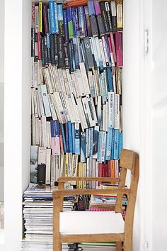 Colorful bookcase #chair #workspace