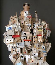 'Favela' by cutting-edge Belgian design studio Toykyo. Handmade cardboard