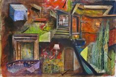 """Artist: Randy Purcell  - """"1st Room Past The Light""""  -  Great Collage"""