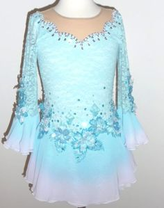 Custom Made to Fit Beautiful Figure Ice Skating Dress   eBay
