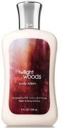 Twilight Woods body lotion from bath and body works