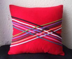red T-shirt pillow