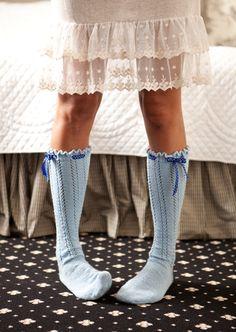 cute knitted socks