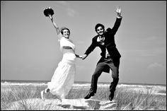 My beloved newly-weds Camille and Louis jumping for life!