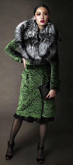 fashion, cloth, style, ford coat, dress, fur, closet, tom ford, green coat