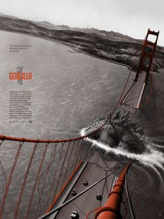 """Godzilla,"" Golden Gate Bridge, San Francisco, Calif. Though the summer 2014 redux of the Japanese monster flick features the destruction of the famous art deco bridge, this structure is one of the most widely filmed in movies, having appeared in scores of feature films, including ""Vertigo,"" ""X-Men: The Last Stand,"" ""Interview With a Vampire,"" ""Rise of the Planet of the Apes,"" ""Pacific Rim,""  ""Dirty Harry,"" ""The Birds"" and ""The Maltese Falcon."""