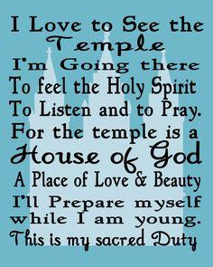 Free Time Frolics: I Love to See the Temple Printable (in a few different colors)