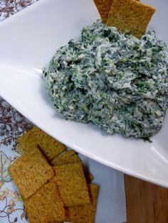 Healthy spinach dip using yogurt.