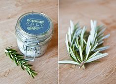 Last year was vanilla sugar, I think rosemary salt this year would be perfect as Christmas gifts!!