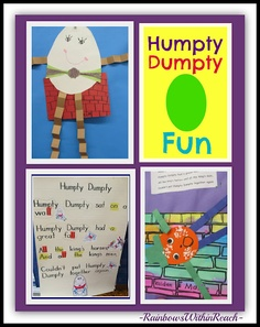 Nursery Rhyme Projects for Humpty Dumpty: Kindergarten + Preschool. Do you teach your children nursery rhymes? How many do they know? Which one is their favorite?