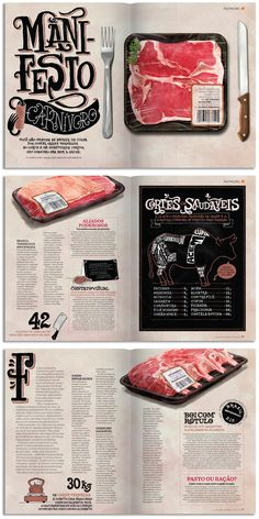 """Manifesto carnívoro"" Women's Health magazine by Sérgio Bergocce"