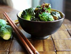 Fried Brussels Sprouts...I may have to try these!