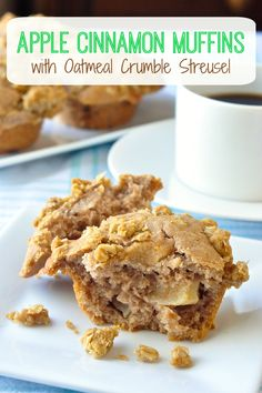 Enjoy the heavenly cinnamon scent as these apple cinnamon muffins bake to perfection. The buttery oatmeal crumble topping makes them even more scrumptious.