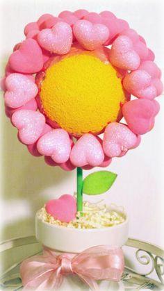 Valentine flower topiary (tutorial)