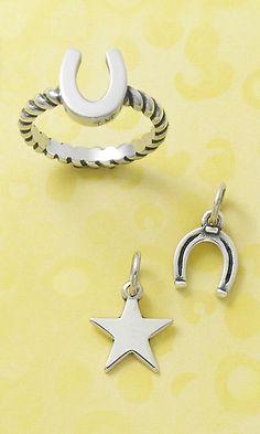 Horseshoe Ring & Charm and Star Charm