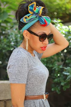 colorful scarf as head wrap