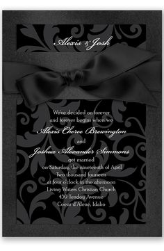 Treasured Jewels Pattern Wedding Invitation by David's Bridal