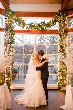 classic winter wedding ceremony | Photo by Katelyn James