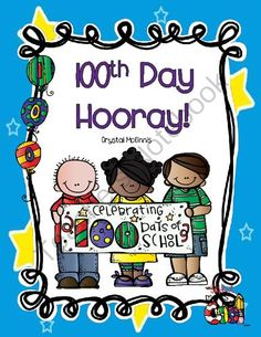 100th Day Hooray Giveaway - I am giving away my 100th Day of School activity packet. Good luck!.  A GIVEAWAY promotion for 100th Day Hooray! Hats, Necklace, Banner, Books, Writing