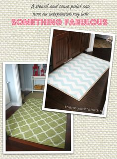 Paint a cheap rug and turn it into something fabulous!