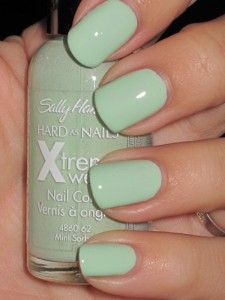 My Favorite Nail Polish in the World!!!!!   Sally Hansen- Mint Sorbet