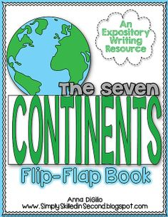 Ready to learn about The Seven Continents?  Look no further!  Your students will hone in on their research skills to complete this interactive flip-flap book!  Makes a BEAUTIFUL bulletin board display!!$