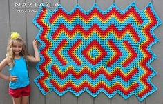 Crochet Drop In The Pond Lapghan Blanket