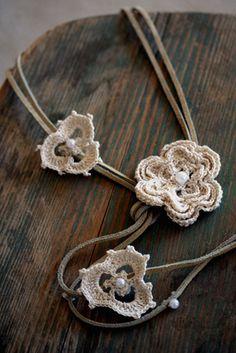 Crochet #flower #necklace