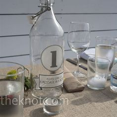 Message in a Bottle Table Numbers!