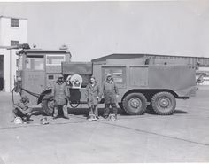 A 010 crash-fire truck at Chanute AFB in Illinois 1968
