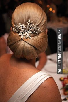 Love this - So pretty. | CHECK OUT MORE GREAT WEDDING HAIRSTYLES AND WEDDING HAIRSTYLE PHOTOS AT WEDDINGPINS.NET | #weddings #hair #weddinghair #weddinghairstyles #hairstyles #events #forweddings #iloveweddings #romance #beauty #planners #fashion #weddingphotos #weddingpictures