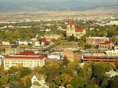 This is the view of Helena, Montana from the base of Mt. Helena.