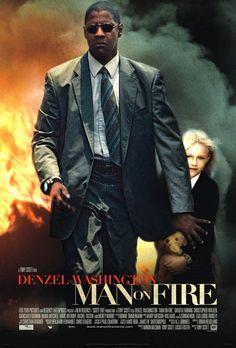 Man on Fire - 2004 - directed by : Tony Scott - cast : Denzel Washington, Dakota Fanning, Christopher Walken, Giancarlo Giannini, Radha Mitchell, Marc Anthony, Rachel Ticotin, Mickey Rourke
