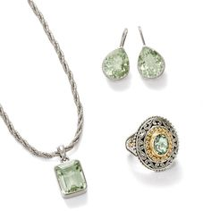 Serene green. >>Click on the Green Amethyst Jewelry to shop the Ross-Simons collection.