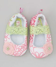 This Pink & Green Fabulous Circle Mary Janes is perfect! #zulilyfinds