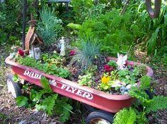 wagon garden..container for fairy garden?