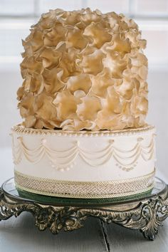 Gold Meringue Cake | Chicago | Two Birds Photography | Pastry Palace