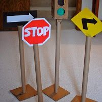 cardboard traffic signs for tables,etc