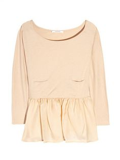 Carven peplum top