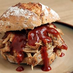 Slow Cooker Pulled Pork by theyummylife: Low fat, easy and delicious. #Slow_Cooker #Pulled_Pork