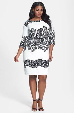 Adrianna Papell Print Sheath Dress (Plus Size) available at #Nordstrom