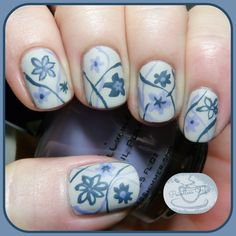 Whimsical Floral Nail Art with KBShimmer Fall 2014 | Pointless Cafe