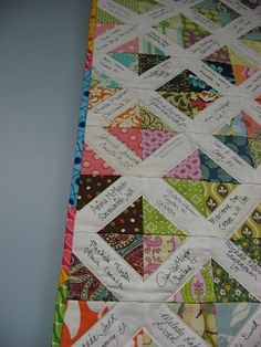 Modern Siggy Quilt-Girl's Camp quilt inspiration?