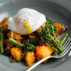 sweet potatoes, peeled and cubed 200 g (7.1oz) tenderstem broccoli ...