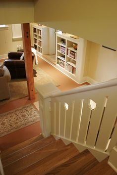 Finished Basement traditional staircase